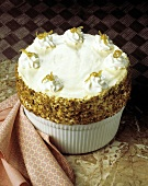 Lemon Souffle with Pistachio and Coconut Sides