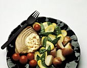 Swordfish Steak with Red Potatoes; Vegetables