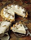 Chocolate and Vanilla Custard Pie and Slice