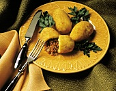 Fritters Filled with Ground Beef