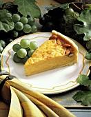 Orange-flavored Ricotta Pie with Almond Garnish