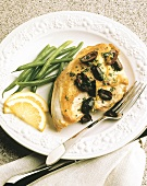 Chicken Bbreast with Black Olives; Green Beans