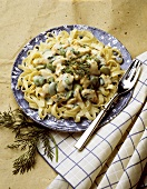 Fettucini with Chicken and Lima Bean Cream Sauce