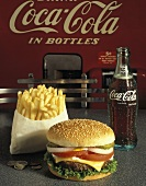 Cheeseburger with Fries and a Coke