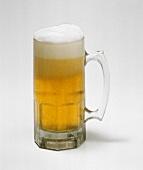 Refreshing Mug of Foaming Beer