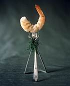 Three Forks Holding a Cocktail Shrimp
