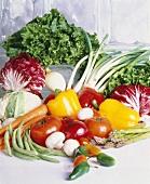 Fresh Garden Vegetabes Still Life