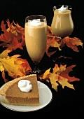 A Slice of Pumpkin Pie; Pumpkin Milkshakes