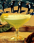 A Margarita With Band Playing in Background