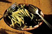 Steamed Green and Wax Beans in a Bowl