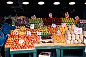People Shopping at Fruit Stall