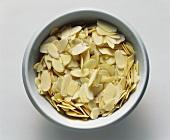 Almond Flakes in a White Bowl