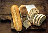 Assorted Breads; Sliced and Whole Loaves