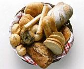 Assorted Bread in a Basket