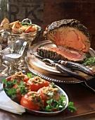 Prime Rib Dinner with Vegetables