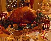 Christmas Roast Turkey on a Platter