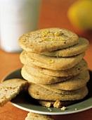 A Stack of Lemon Clove Cookies