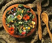Fresh Garden Salad with Nasturtiums