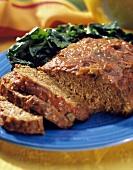 .Meat Loaf Sliced on a Plate