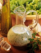 Creamy Vinaigrette Dressing; Glass Pitcher