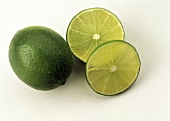 A Whole Lime with two Lime Slices