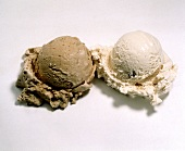A Scoop of Chocolate Ice Cream and Coffee Ice Cream