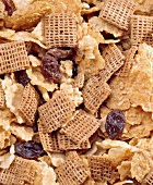 Close Up of Whole Grain Cereal Mix
