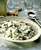 Rice with Asparagus and Grated Cheese