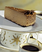 A Slice of Chocolate Cheesecake