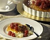Creme Brulee with Raspberries