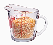 Popcorn Kernels in a Glass Mesuring Cup