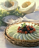 A Melon Tart with Berries