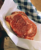 Rib Eye Steak in Paper