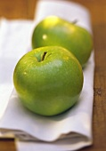 Two Whole Granny Smith Apples