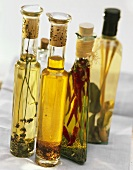 Four Bottles of Assorted Flavored Oils