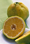 Ugli Fruit Cut in Half; Whole Ugli Fruit