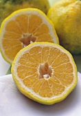 Ugli Fruit Cut in Half