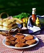 Raw Hamburger Patties Ready For the Grill