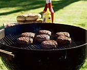 Hamburgers on the Grill; Steam