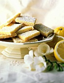Lemon Dessert Bars with Powdered Sugar