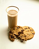 Glass of Chocolate Milk; Chocolate Chip Cookies