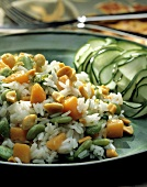 Rice Salad with Lima Beans and Carrots