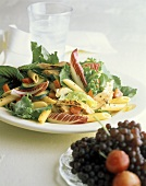 Chicken and Pasta Salad with Greens