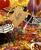 Party Scene with Party Decorations and an Invitation