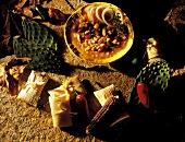 Mexican Stew with Tamales; Cactus