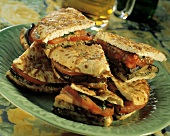 Grilled Vegetable Sandwiches on Boboli