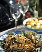 Filetti di pollo alla salvia (Chicken breast fillets with sage)
