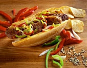 Sausage and Bell Pepper Sub