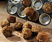 Gingerbread Muffins Falling From Muffin Pan