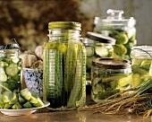 Homemade Cucumber Pickles in Jars